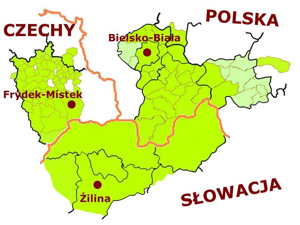 POLSKA SŁOWACJA Bielsko-Biała Frýdek-Místek Žilina CZECHY