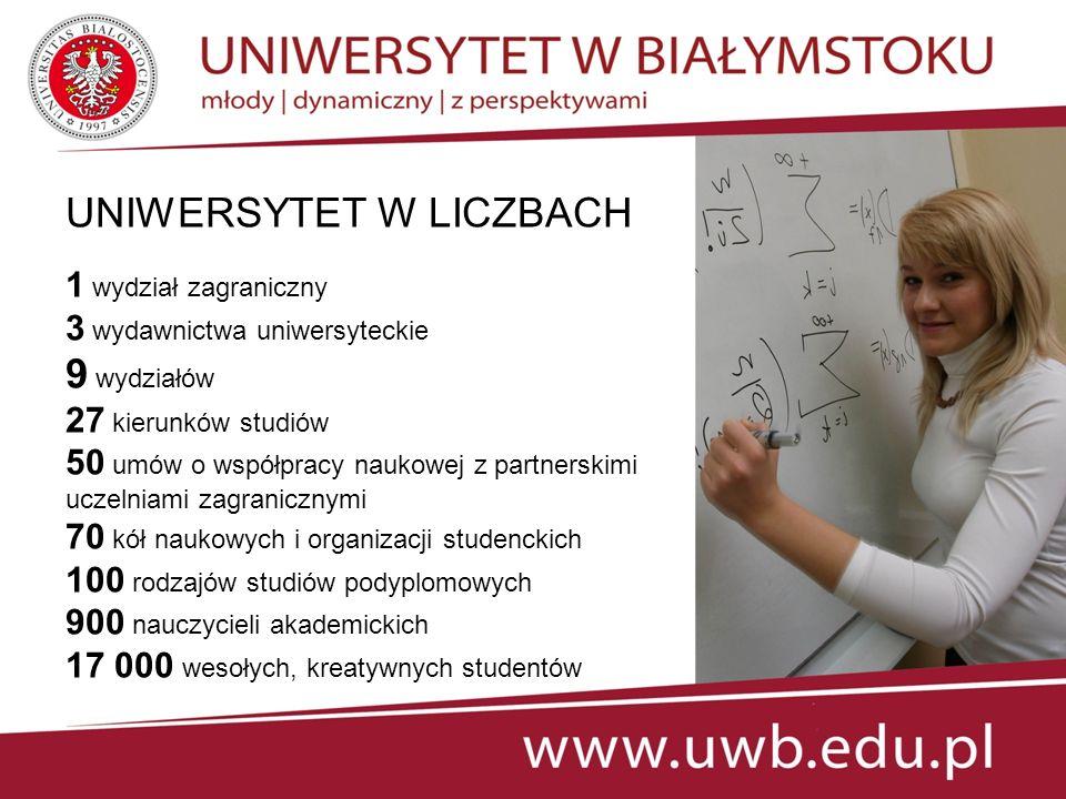 W roku akademickim 2013/2014 w ofercie uczelni studia prowadzone w językach obcych: angielskim oraz rosyjskim.