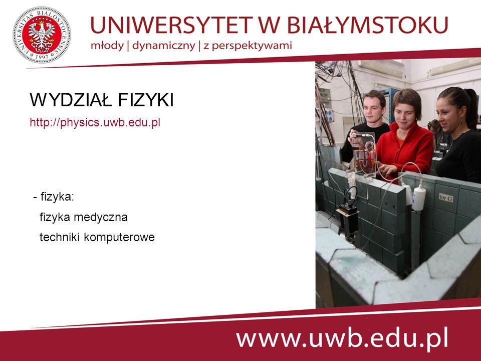 WYDZIAŁ HISTORYCZNO-SOCJOLOGICZNY www.hist-soc.uwb.edu.pl - filozofia - historia - socjologia - stosunki międzynarodowe