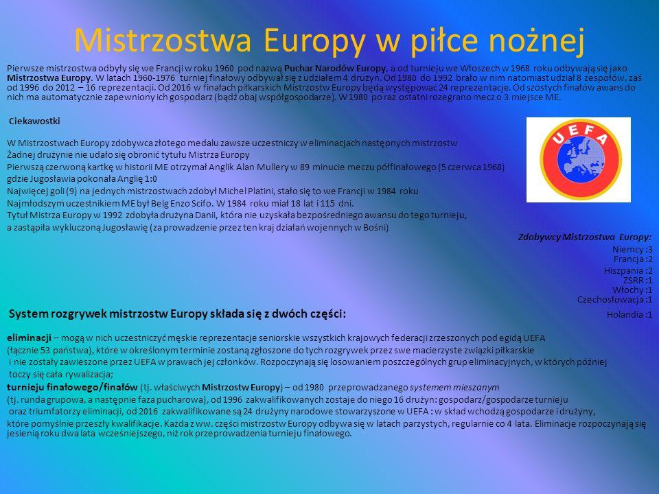 Mistrzostwa Europy w piłce nożnej Euro 1972Euro 1992 Euro 1976Euro 1996 Euro 1980Euro 2000 Euro 1984Euro 2004 Euro 1988Euro 2008 Tegoroczne Mistrzostwa Europy