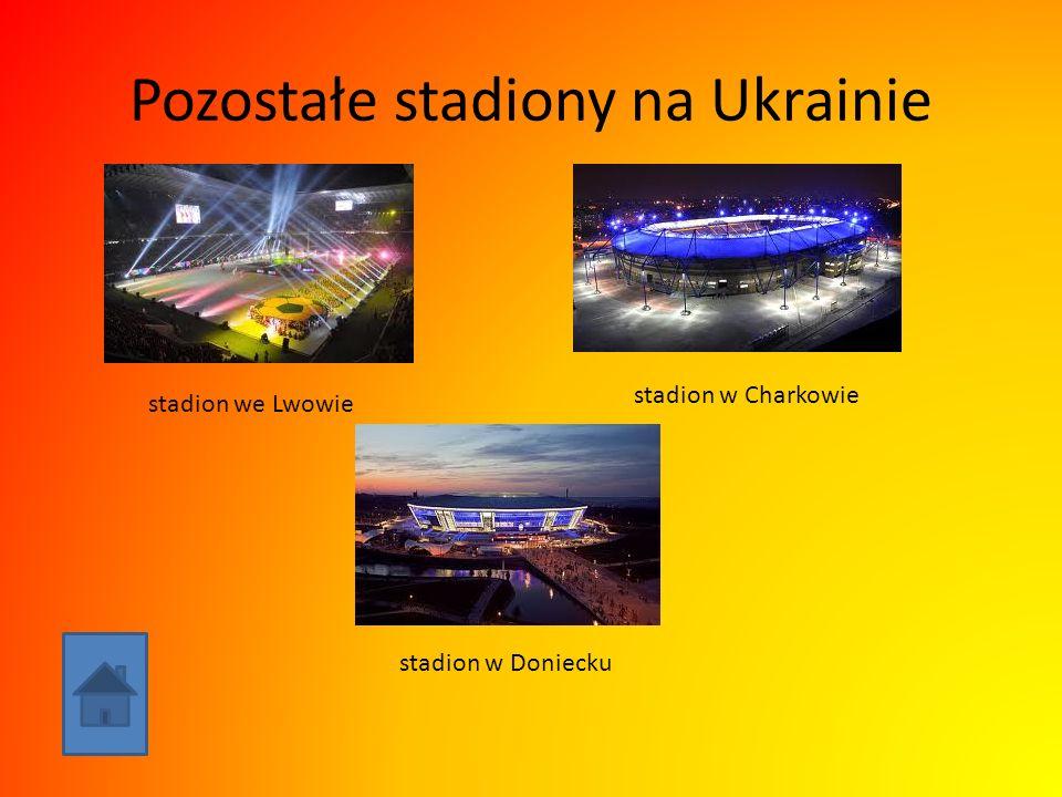 Pozostałe stadiony na Ukrainie stadion we Lwowie stadion w Charkowie stadion w Doniecku