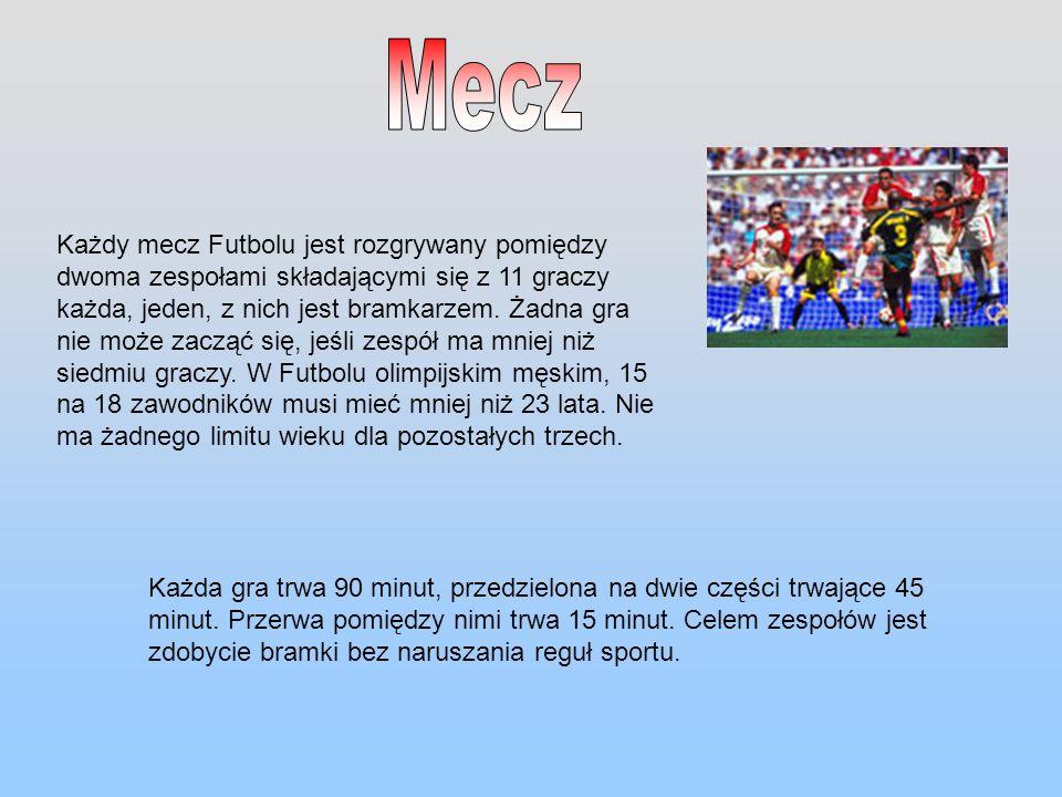 Każdy mecz Futbolu jest rozgrywany pomiędzy dwoma zespołami składającymi się z 11 graczy każda, jeden, z nich jest bramkarzem. Żadna gra nie może zacz