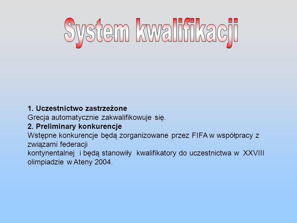 1. Uczestnictwo zastrzeżone Grecja automatycznie zakwalifikowuje się. 2. Preliminary konkurencje Wstępne konkurencje będą zorganizowane przez FIFA w w