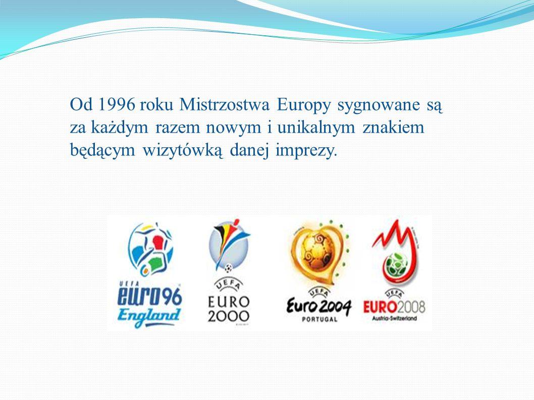 Od 1996 roku Mistrzostwa Europy sygnowane są za każdym razem nowym i unikalnym znakiem będącym wizytówką danej imprezy.