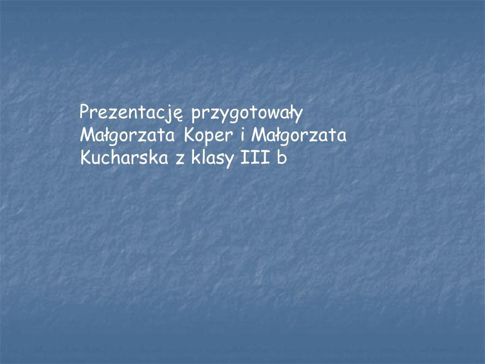 Prezentację przygotowały Małgorzata Koper i Małgorzata Kucharska z klasy III b