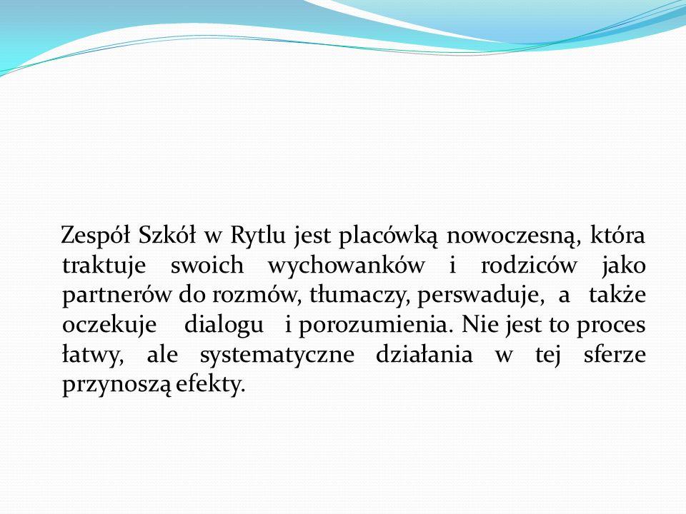 Charakterystyka Zespołu Szkół w Rytlu Zespół Szkół w Rytlu został powołany 1 września 2002 roku.