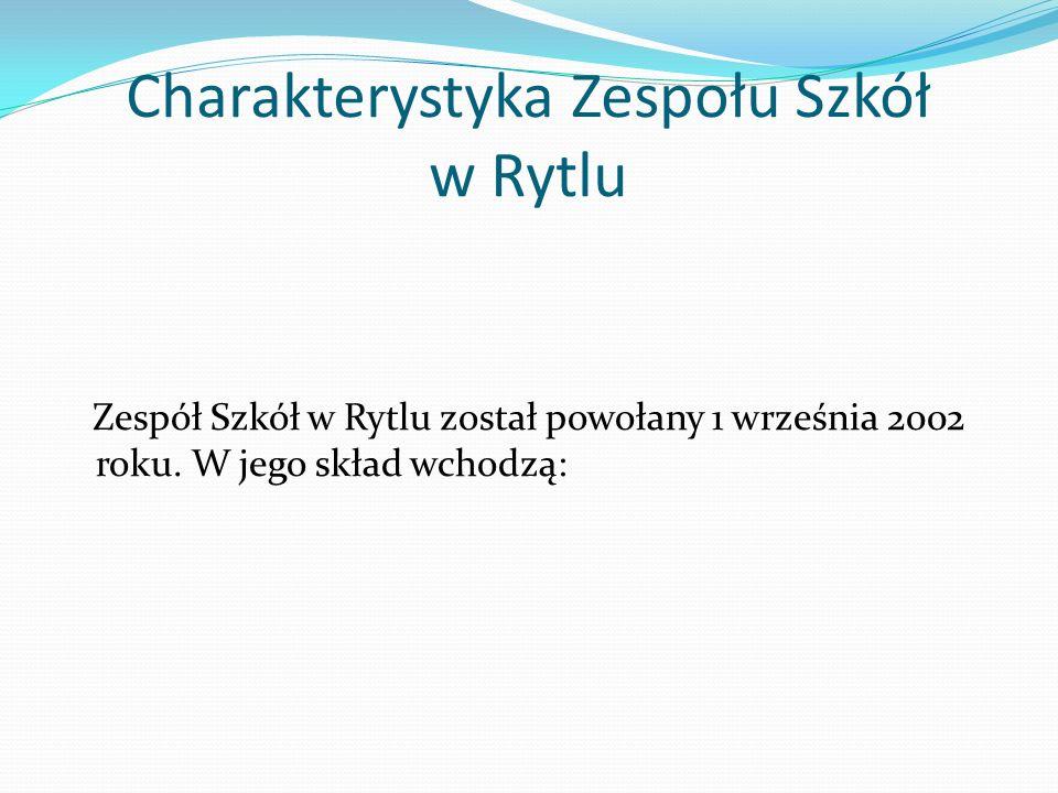 Charakterystyka Zespołu Szkół w Rytlu Zespół Szkół w Rytlu został powołany 1 września 2002 roku. W jego skład wchodzą: