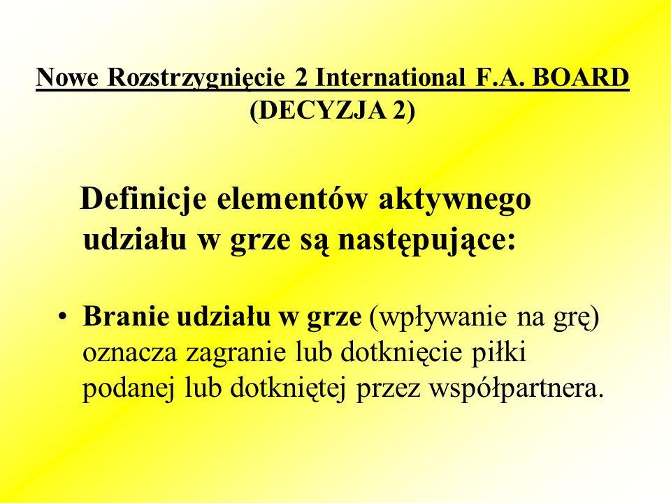 Nowe Rozstrzygnięcie 2 International F.A.