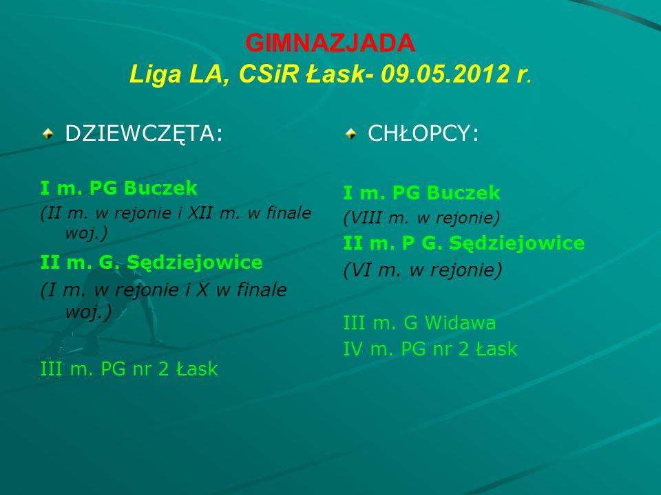 GIMNAZJADA Liga LA, CSiR Łask- 09.05.2012 r. DZIEWCZĘTA: I m.