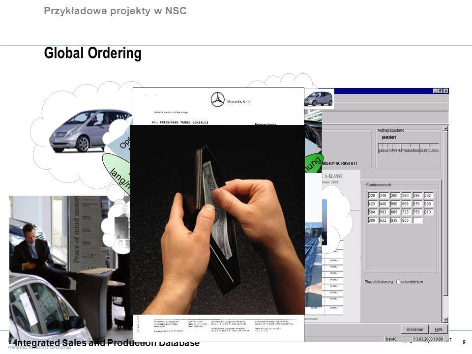 CE v5.6 Copyright Capgemini 2007 9 Global Ordering Operative Planung Kurzfrist- Planung Auftrags- Steuerung Presales Angebots- erstellung Auftrags- ab