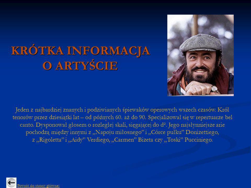 Luciano Pavarotti:,,La Donna e Mobile - Rigoletto Powrót do Sławnych wykonań