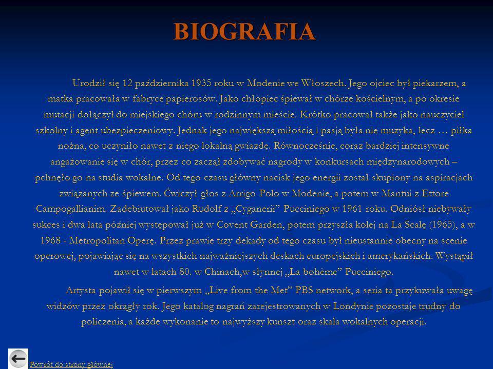 BIOGRAFIA Urodził się 12 października 1935 roku w Modenie we Włoszech. Jego ojciec był piekarzem, a matka pracowała w fabryce papierosów. Jako chłopie