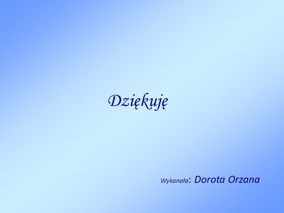 Dziękuję Wykonała : Dorota Orzana