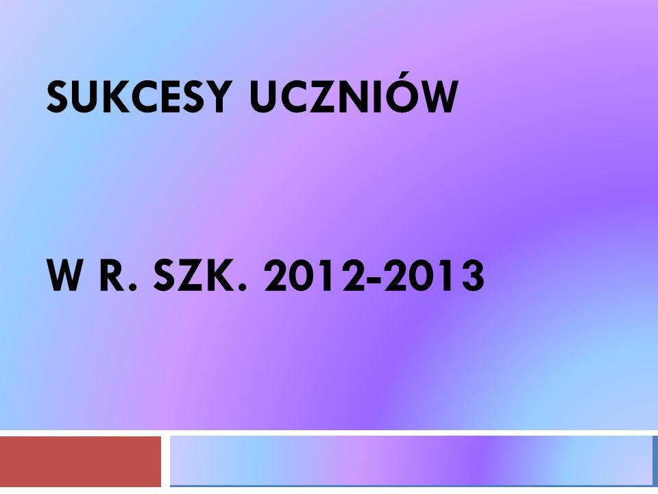 SUKCESY UCZNIÓW W R. SZK. 2012-2013