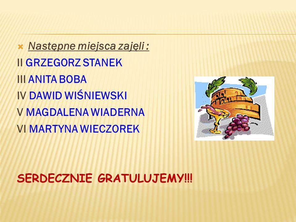 Tytuł HEROSA 2012 otrzymała : MARIA GOTKIEWICZ Uczennica Gimnazjum – Stadnicka Wola