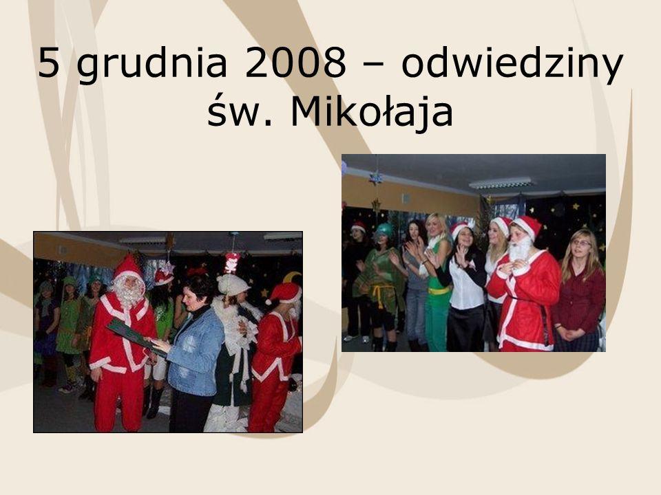 5 grudnia 2008 – odwiedziny św. Mikołaja