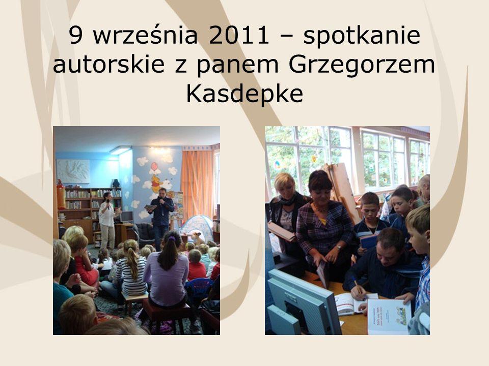 9 września 2011 – spotkanie autorskie z panem Grzegorzem Kasdepke