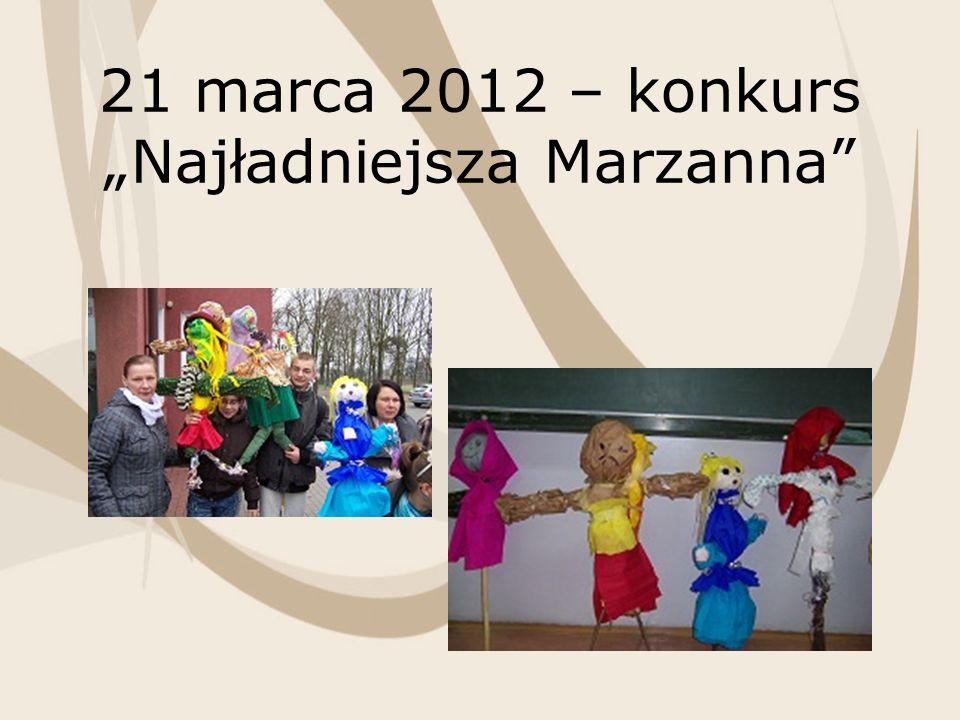21 marca 2012 – konkurs Najładniejsza Marzanna