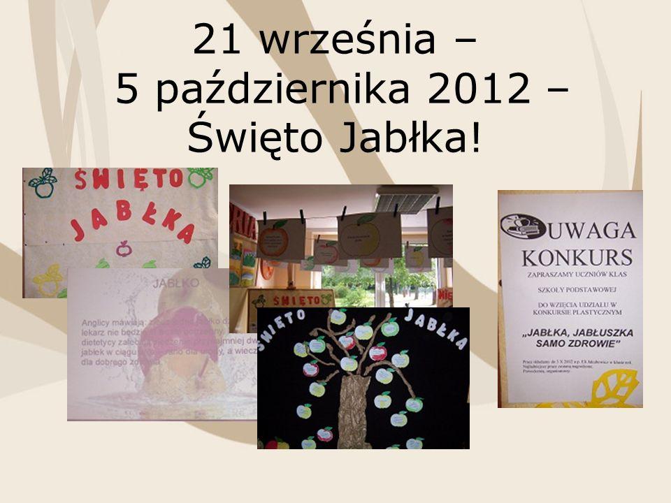 21 września – 5 października 2012 – Święto Jabłka!