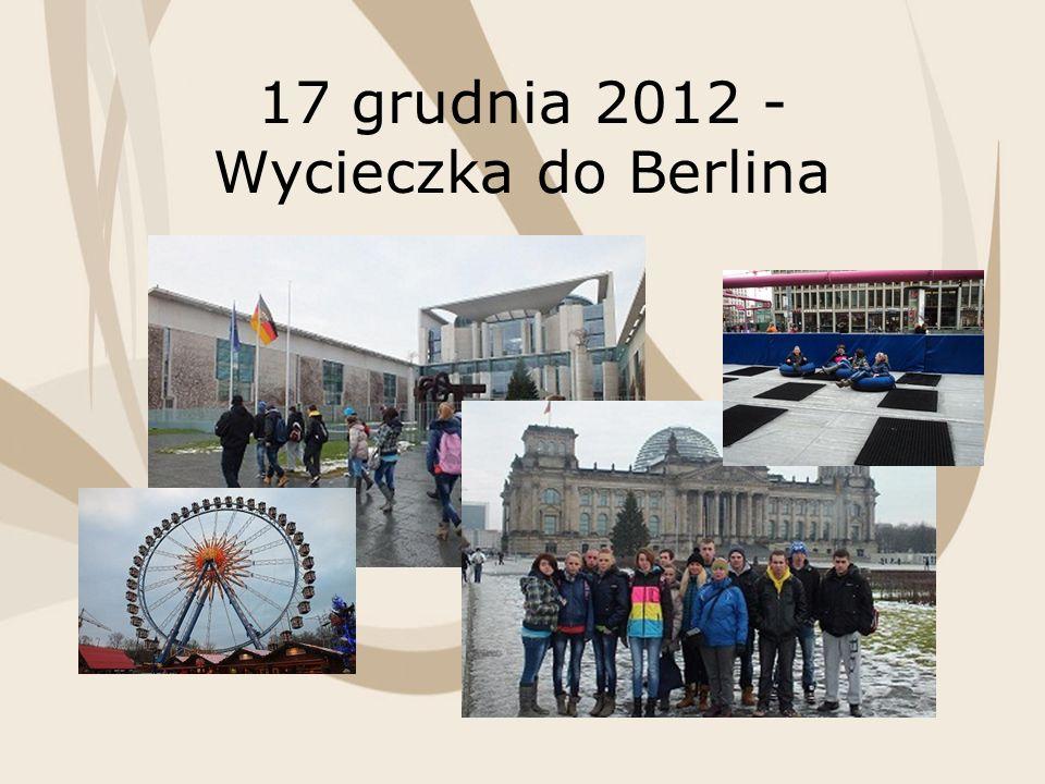 17 grudnia 2012 - Wycieczka do Berlina