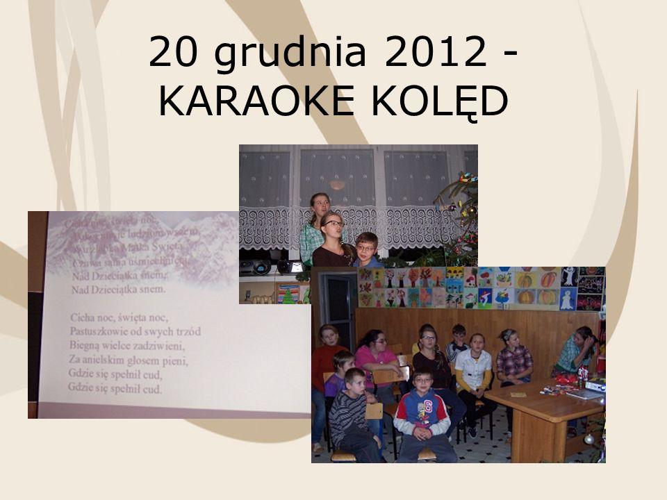 20 grudnia 2012 - KARAOKE KOLĘD