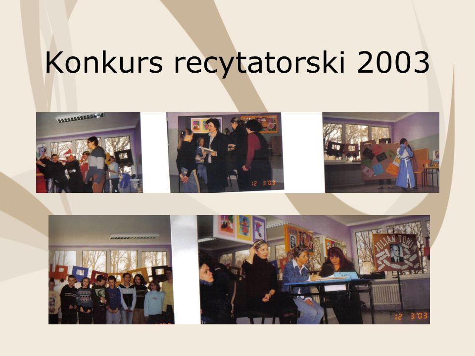 Konkurs recytatorski 2003