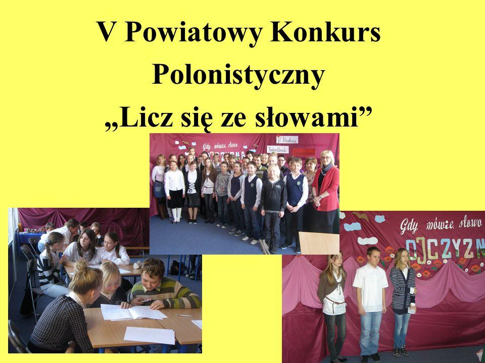 V Powiatowy Konkurs Polonistyczny Licz się ze słowami