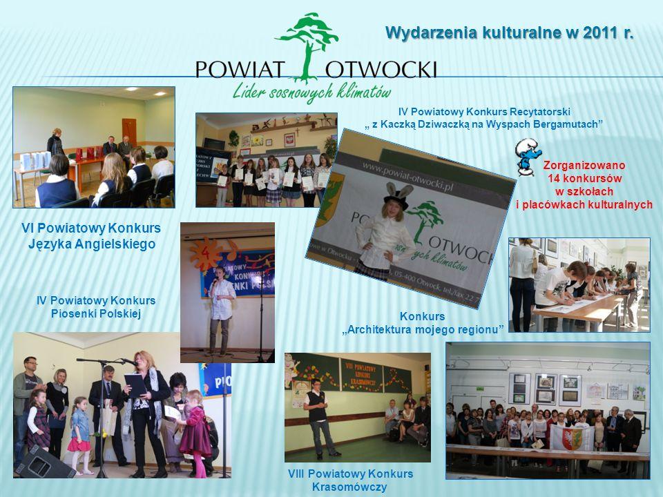VI Powiatowy Konkurs Języka Angielskiego Wydarzenia kulturalne w 2011 r.