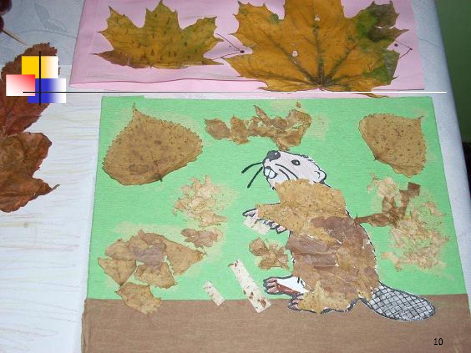 9 Konkurs Sto pomysłów z jesiennych liści dla uczniów klas I-III. Uczniowie wykazali się duża pomysłowością i oryginalnością oraz zapałem do pracy. W