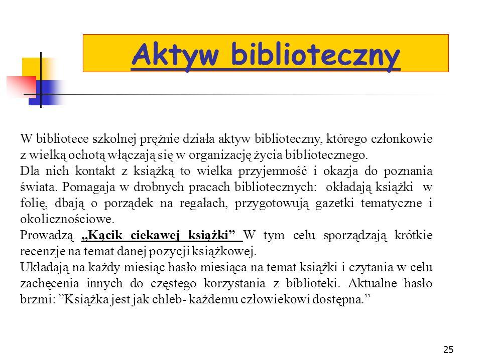 24 Systematycznie w każdy piątek są czytane książki naszym uczniom przebywającym na świetlicy szkolnej w celu inspirowania czytelnictwa w szkole jak r