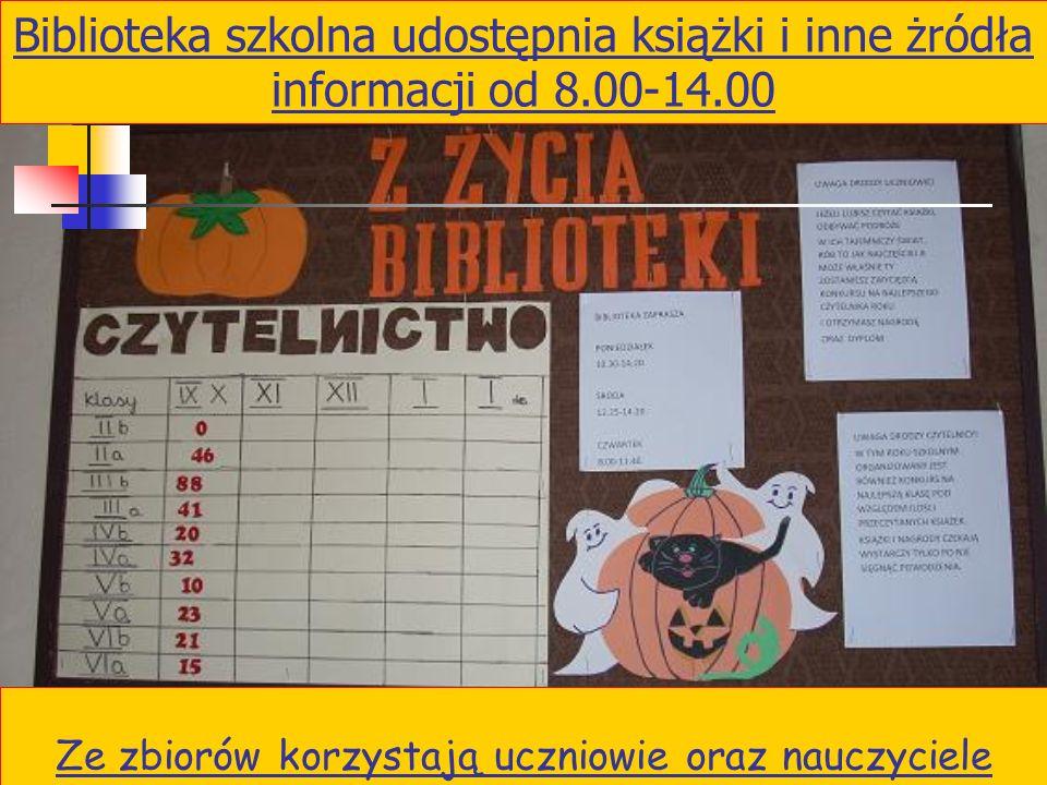 2 Biblioteka szkolna Nauczyciel bibliotekarz: Mgr Dorota Żelek