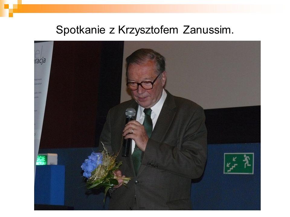 Spotkanie z Krzysztofem Zanussim.