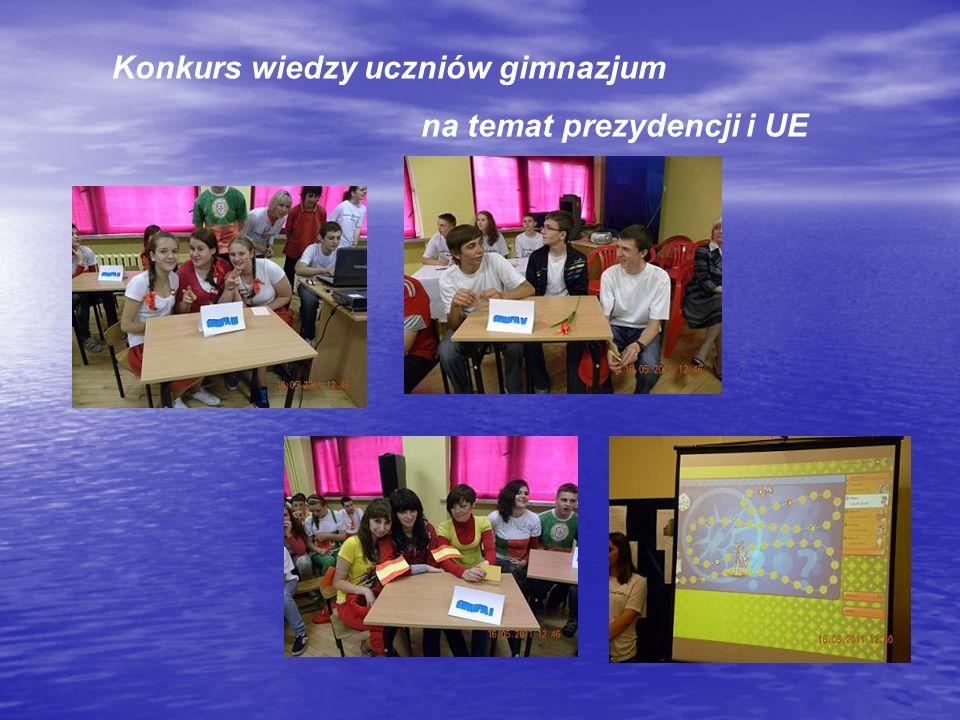 Konkurs wiedzy uczniów gimnazjum na temat prezydencji i UE