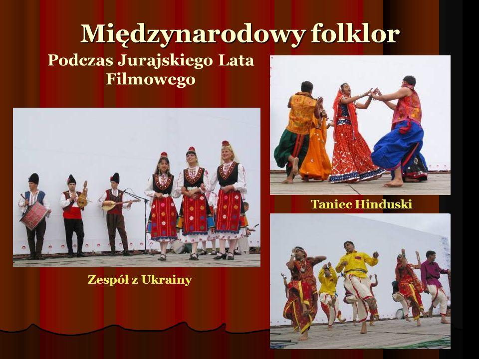 Taniec Hinduski Zespół z Ukrainy Międzynarodowy folklor Podczas Jurajskiego Lata Filmowego