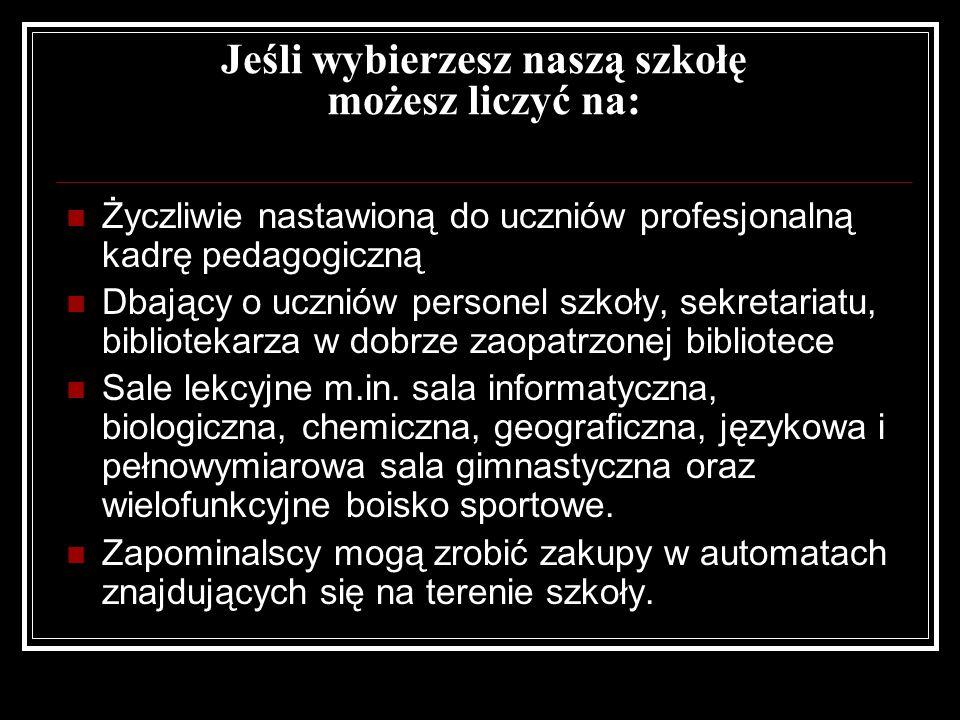 I Liceum Ogólnokształcące im. Ziemi Żuławskiej Twój dobry wybór!