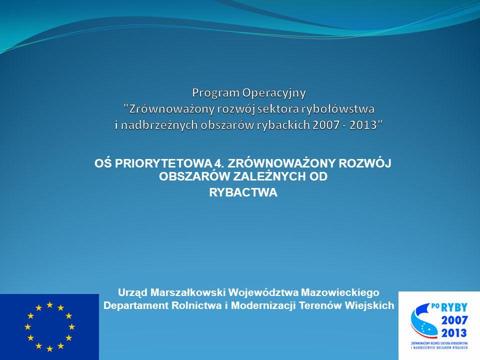 Program Operacyjny Zrównoważony rozwój sektora rybołówstwa i nadbrzeżnych obszarów rybackich 2007 – 2013 Kryteria oceny LGR Oceniane będą następujące elementy: I.