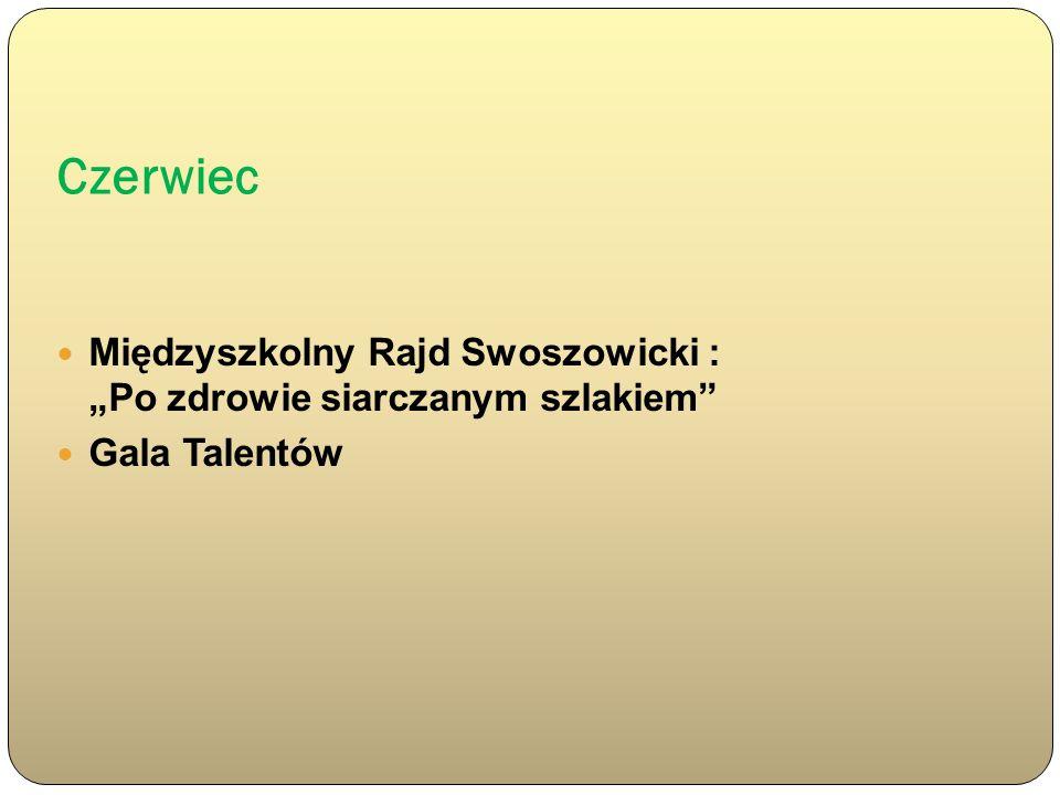 Czerwiec Międzyszkolny Rajd Swoszowicki : Po zdrowie siarczanym szlakiem Gala Talentów