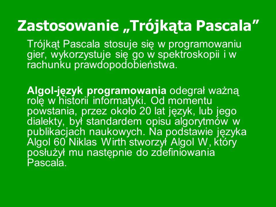Jak z pomocą trójkąta Pascala obliczać 11 do dowolnej potęgi: obliczanie 11^n Weź rząd n.