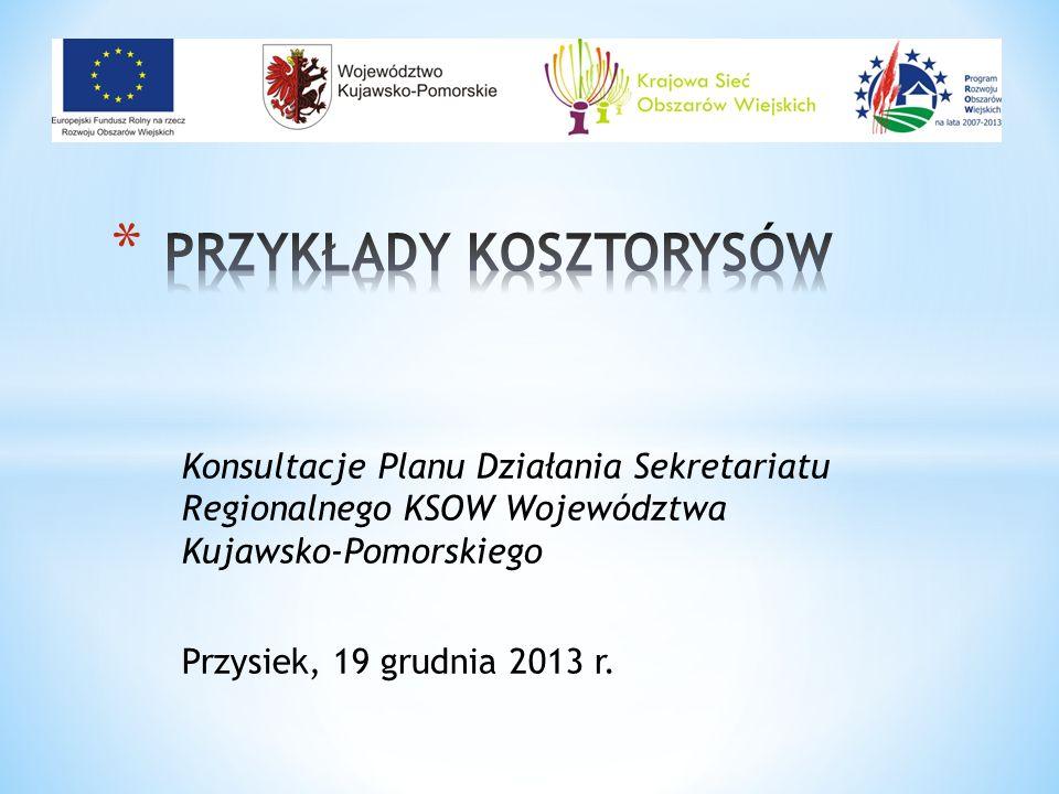Konsultacje Planu Działania Sekretariatu Regionalnego KSOW Województwa Kujawsko-Pomorskiego Przysiek, 19 grudnia 2013 r.