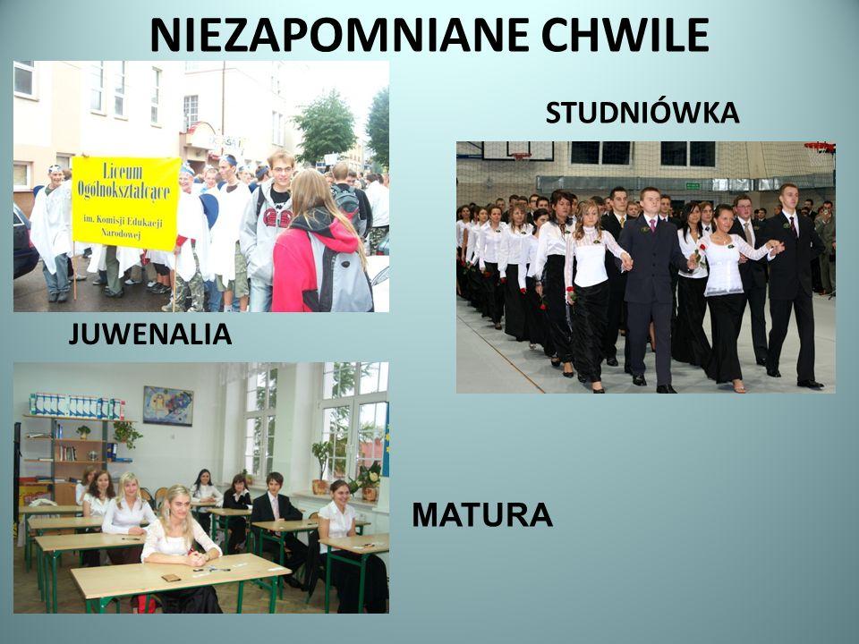 NIEZAPOMNIANE CHWILE JUWENALIA STUDNIÓWKA MATURA
