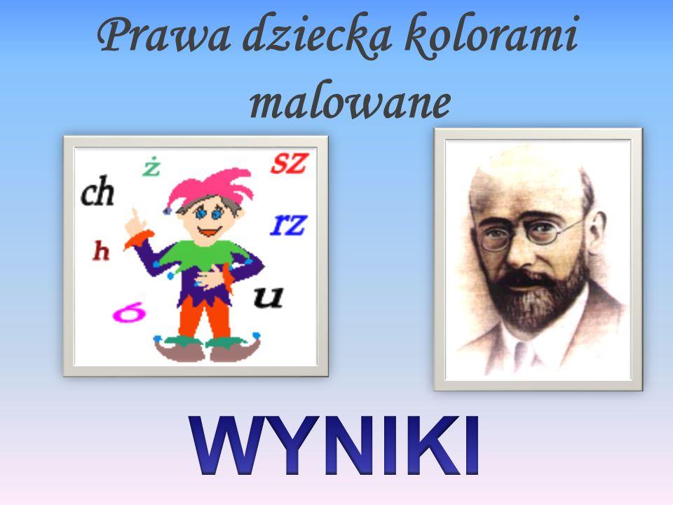 Prawa dziecka kolorami malowane