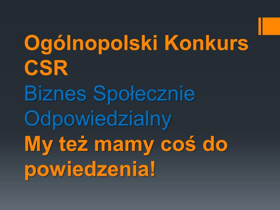 II miejsce w Ogólnopolskim Konkursie CSR