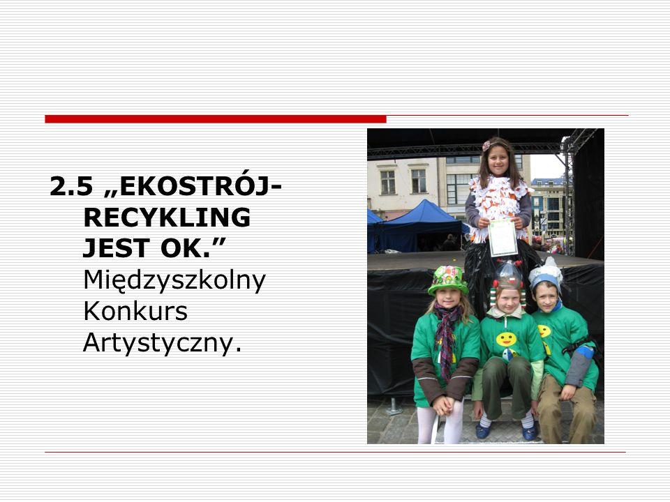 2.5 EKOSTRÓJ- RECYKLING JEST OK. Międzyszkolny Konkurs Artystyczny.