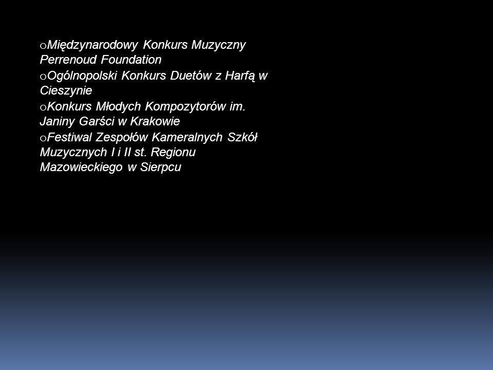 Absolwenci: Jerzy Maksymiuk Elżbieta Chojnacka Stanisław Moryto Piotr Anderszewski Anna Maria Jopek Stanisław Drzewiecki