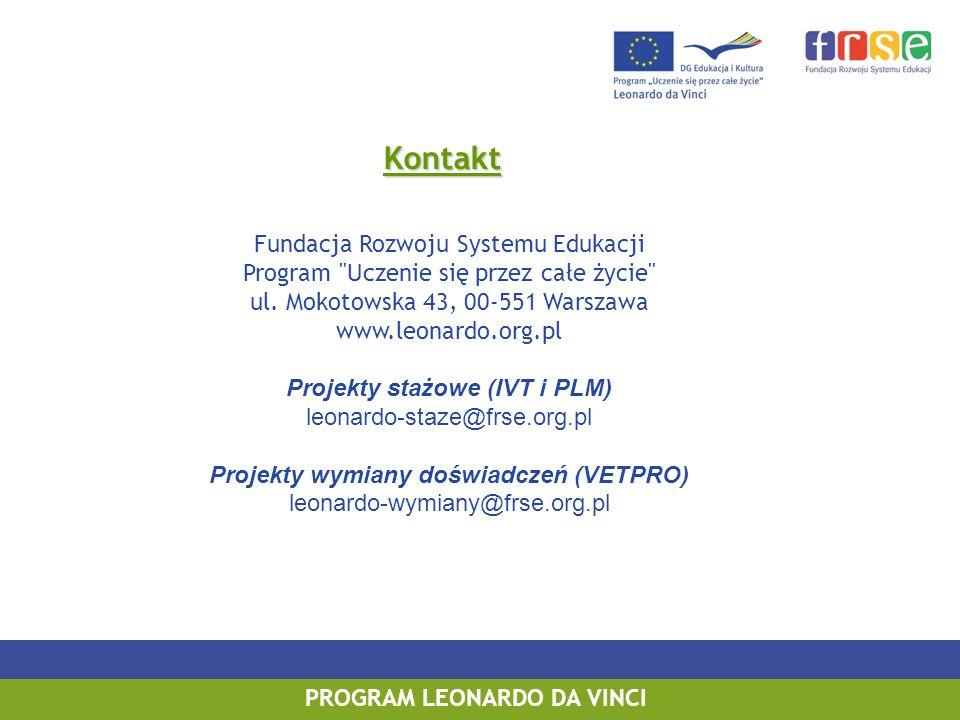 Kontakt Fundacja Rozwoju Systemu Edukacji Program Uczenie się przez całe życie ul.