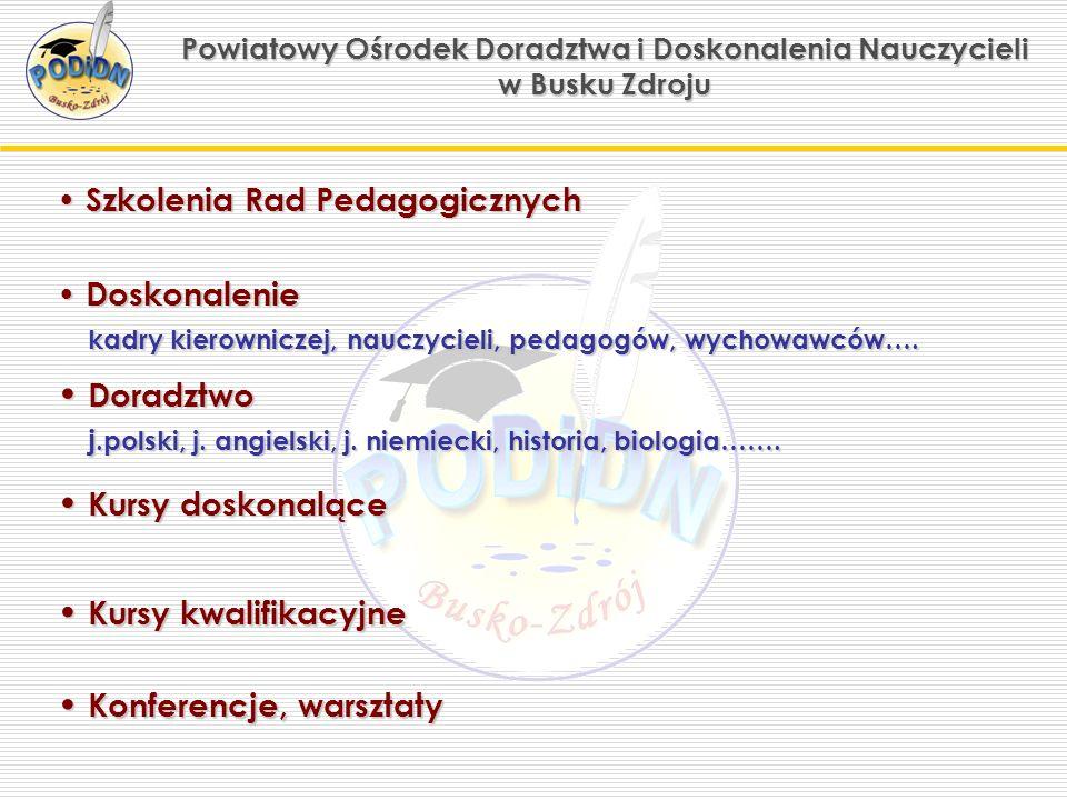Powiatowy Ośrodek Doradztwa i Doskonalenia Nauczycieli w Busku Zdroju Szkoły i kursy dla Ciebie