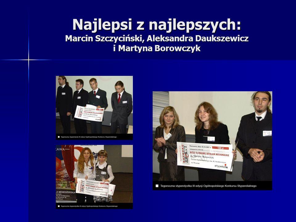Najlepsi z najlepszych: Marcin Szczyciński, Aleksandra Daukszewicz i Martyna Borowczyk