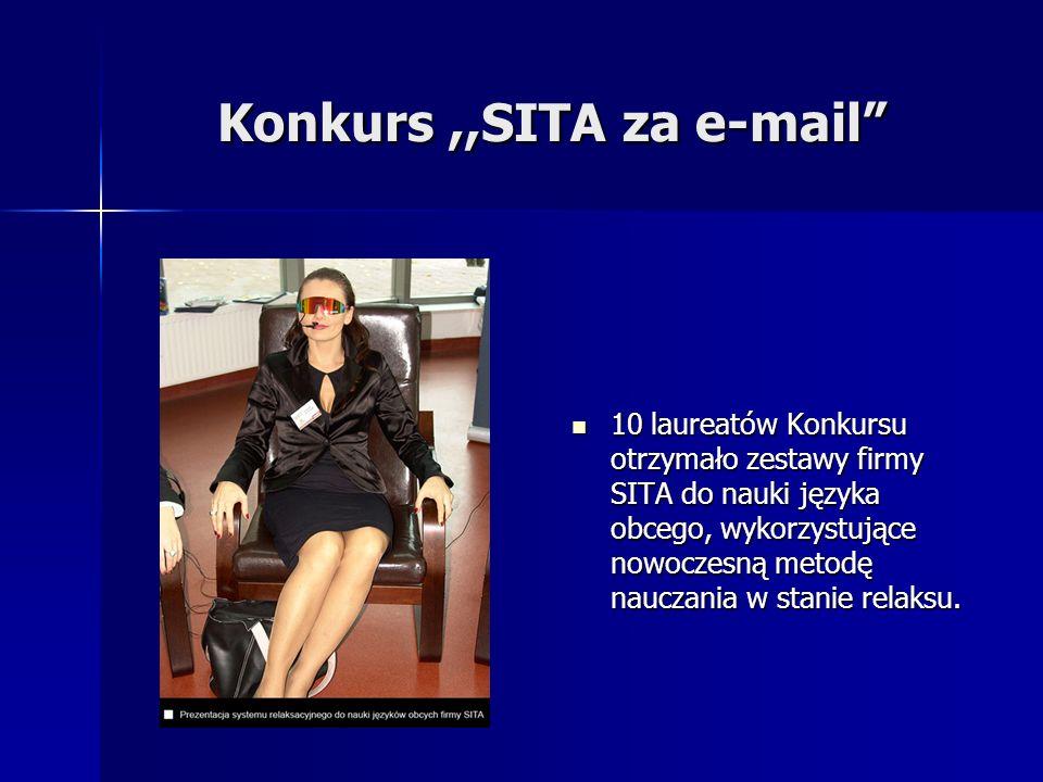 Konkurs,,SITA za e-mail 10 laureatów Konkursu otrzymało zestawy firmy SITA do nauki języka obcego, wykorzystujące nowoczesną metodę nauczania w stanie