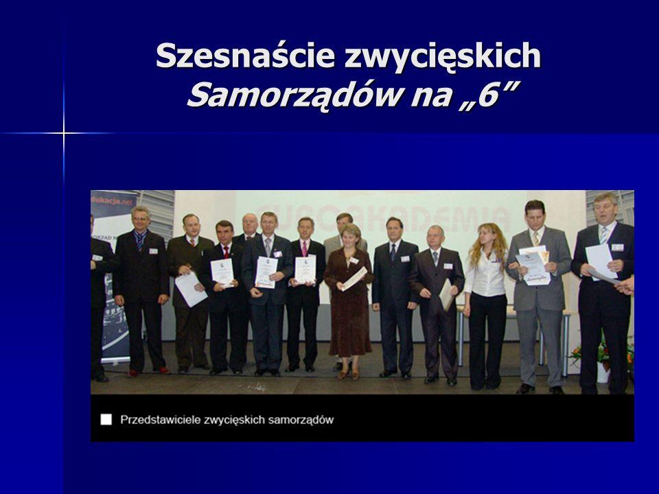 Szesnaście zwycięskich Samorządów na 6