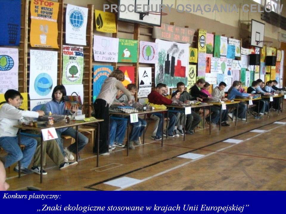Konkurs plastyczny: Znaki ekologiczne stosowane w krajach Unii Europejskiej PROCEDURY OSIĄGANIA CELÓW